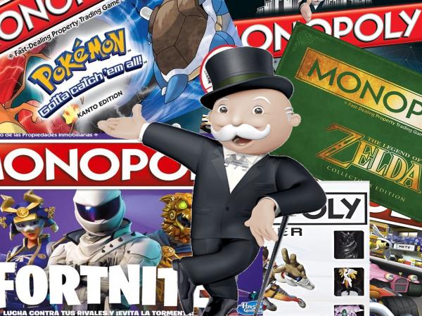 """Juegos De Mesa Relacionados Con Temática de Videojuegos, Especial Monopoly """"Gamers"""""""