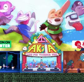 Lanzamiento en  Kickstarter del juego Akita: King Pig Thinks Pink